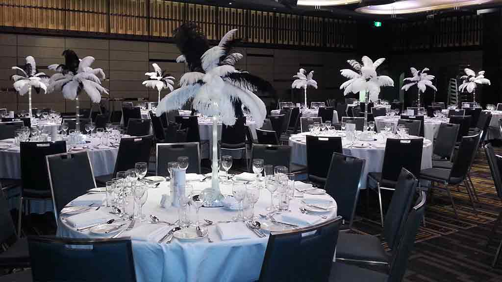 Ostrich Feathers Centrepieces For Hire Centrepieces Hq